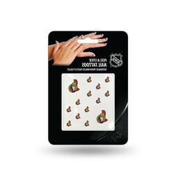 2 pks Ottawa Senators Peel & Stick Nail Tattoos. 14 p/pack.