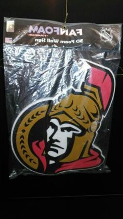 2015 Fanfoam Ottawa Senators NHL 3D Wall Sign Hockey Decor 1