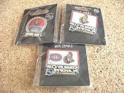 3 - Different 2015 Stanley Cup Playoffs pins NHL Ottawa Sena