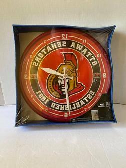 """Brand New WinCraft NHL Ottawa Senators 12"""" Chrome Wall Clock"""