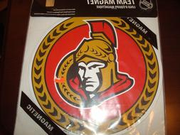 CAR BIG LOGO  Ottawa Senators 12X12 ROUND Pack Vinyl Magnet