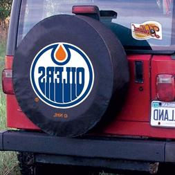 EDMONTON OILERS HBS Black Vinyl Fitted Spare Car Tire Cover