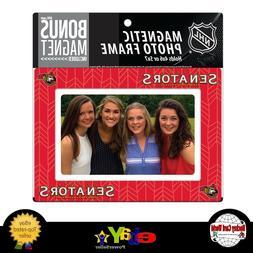 Ottawa Senators 4x6 or 5x7 Magnetic Picture Frame with Bonu