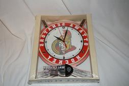 WINCRAFT HIGH DEFINITION WALL CLOCK NHL HOCKEY OTTAWA SENATO