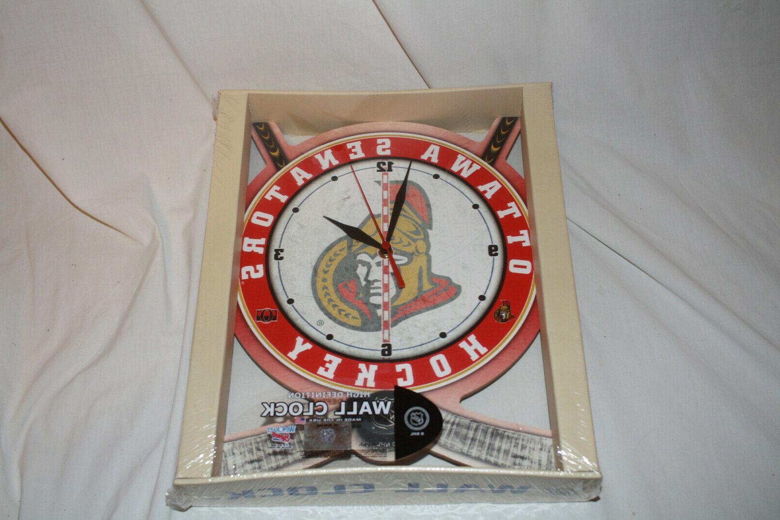 high definition wall clock nhl hockey ottawa