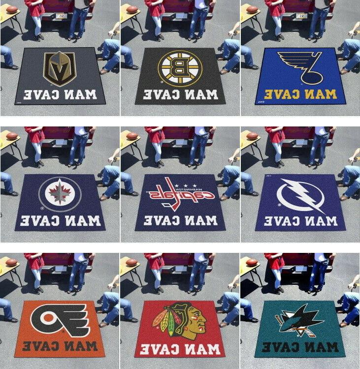 nhl area rugs man cave 5 x