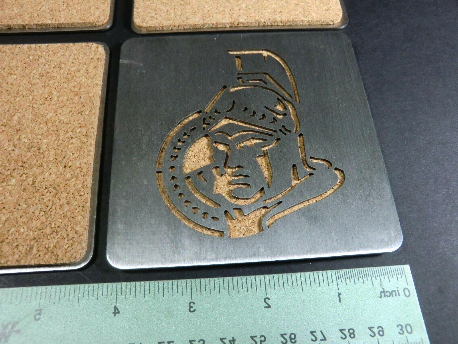 NHL BOASTERS Ottawa Stainless Coasters