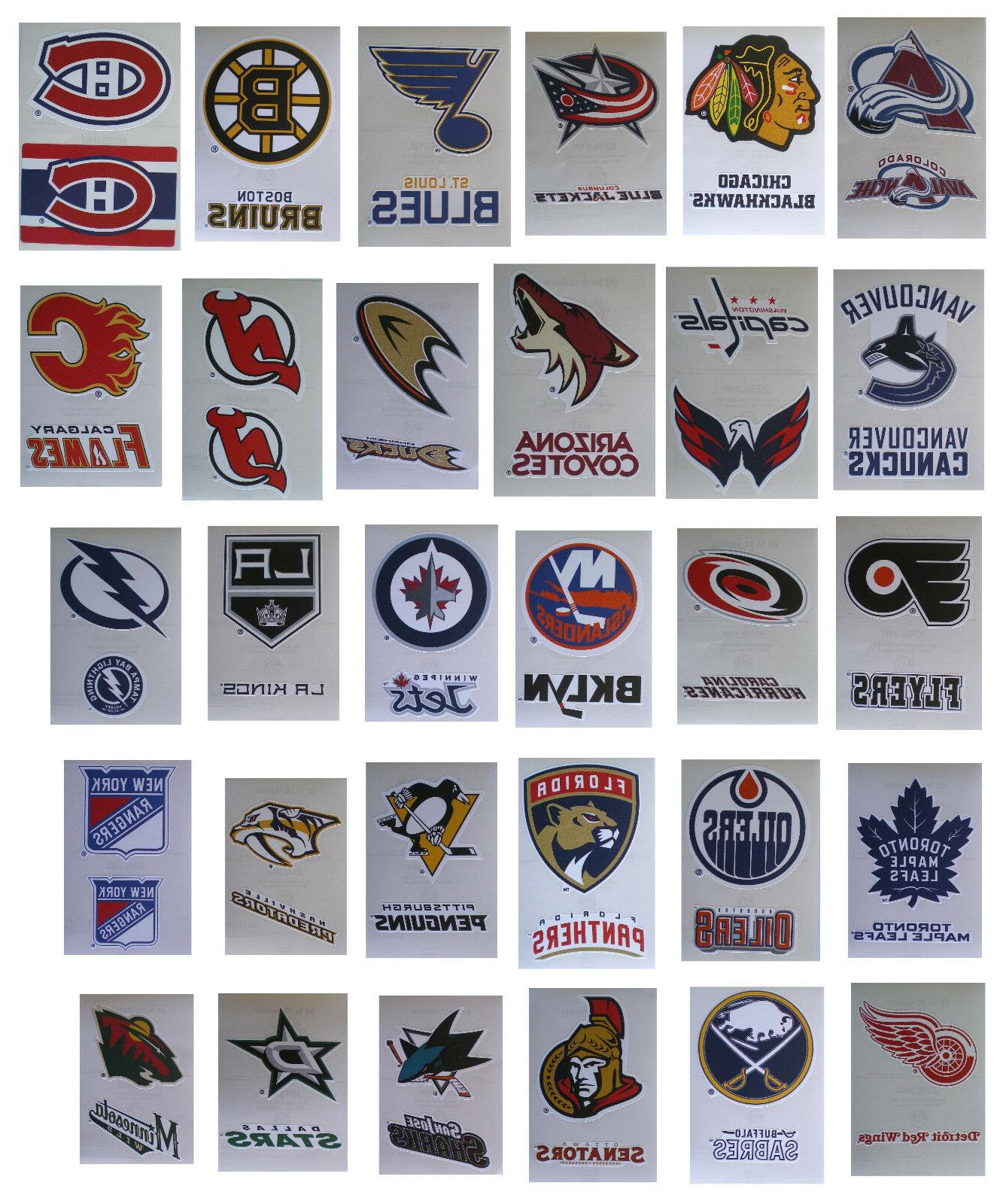 nhl hockey decal stickers 2 stickers per