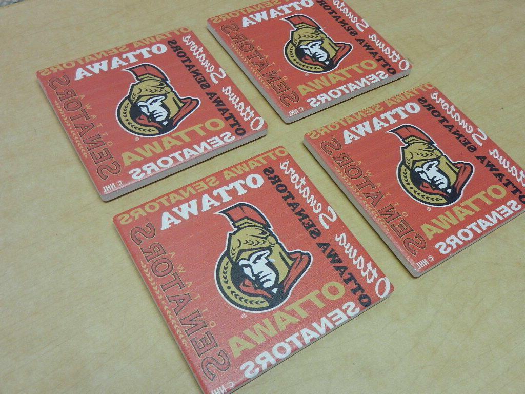 NHL Senators Square Ceramic 4 Pack