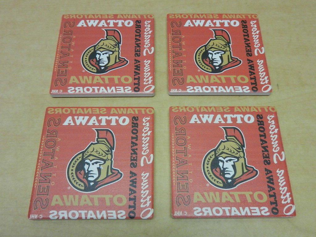 nhl ottawa senators hockey square ceramic coasters