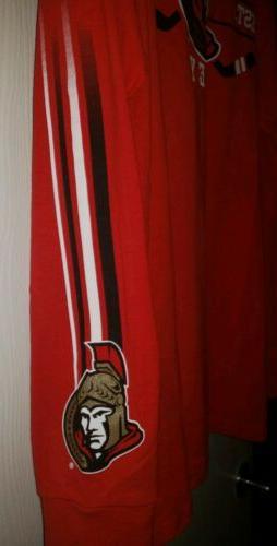 NHL Ottawa Long Sleeved Graphic T-Shirt Red Men's Large