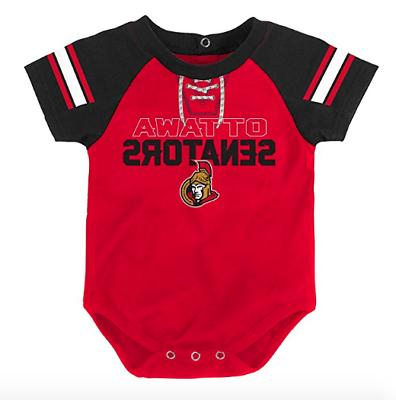 NHL Ottawa NEW Infant 0-3 Months Bib, & PJ NWT