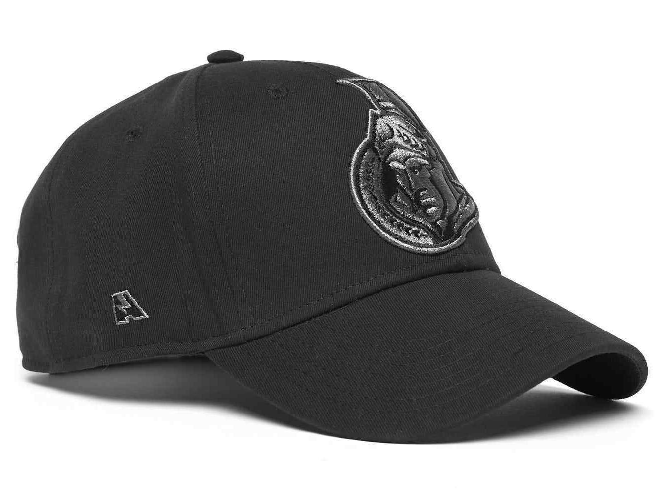 ottawa senators blackout nhl baseball cap hat