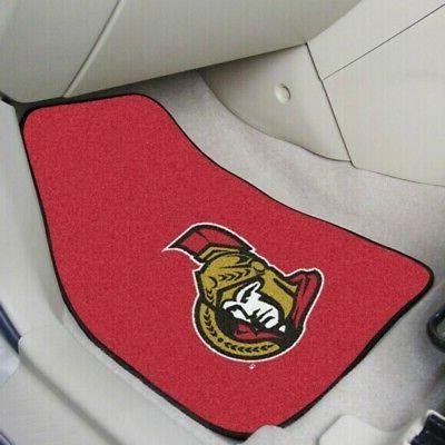 ottawa senators car floor mat 2 piece