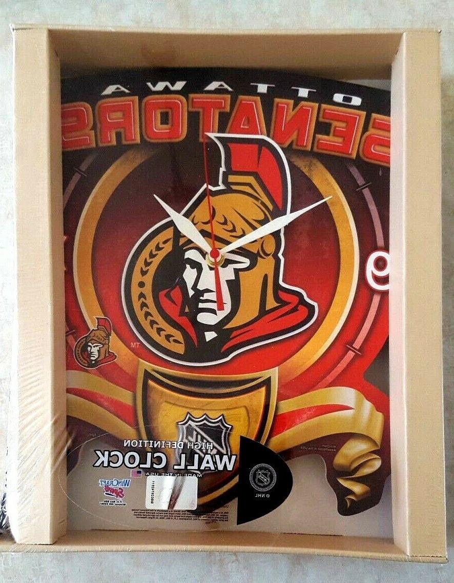 ottawa senators clock 12 inch wall office