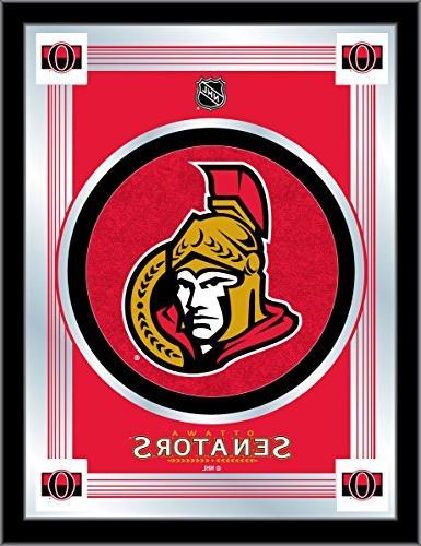 Ottawa Senators Holland Bar Stool Co. CollectorRed Logo Mirr