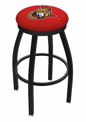 ottawa senators hbs black swivel bar stool