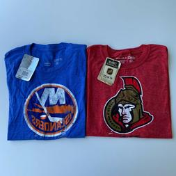 Lot of 2 Reebok T-Shirts Youth XL Blue Red NHL Hockey New Is