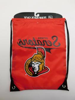 New NHL Ottawa Senators Team New Drawstring Back-Sack, Size