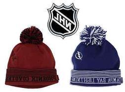 NEW!  NHL Cuffed Knit Beanie Winter Cap Hat Pom Ball Hockey