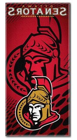 "NHL 30"" x 60"" Emblem Shadow Series Cotton Beach Towel, Ottaw"