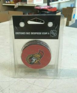Boelter BRands NHL Hockey 4 Pack Neoprene Car Coasters Ottaw