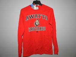 NHL Majestic Ottawa Senators Hockey Long Sleeve Shirt New Me