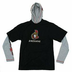 Reebok NHL Men's Ottawa Senators Hoodie and T-Shirt Combo Se