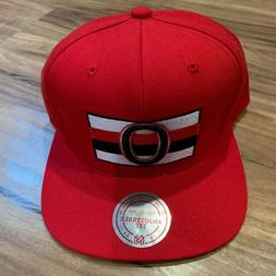 NHL Mitchell & Ness NHL Ottawa Senators Snapback Hat Cap Red