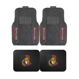 NHL Ottawa Senators 2-Pc & 4-Pc Deluxe Floor Car Truck Mat S