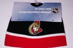 NHL Ottawa senators beanie and mits 12-24m new with tags