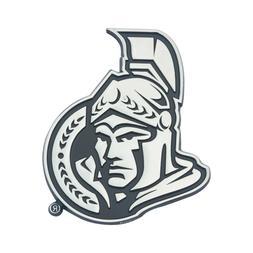 Fanmats NHL Ottawa Senators Diecast 3D Chrome Emblem Car Tru
