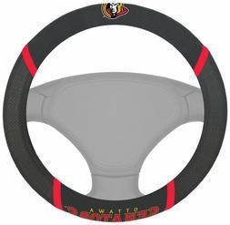 Fanmats NHL Ottawa Senators Embroidered Steering Wheel Cover