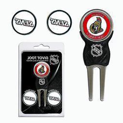 NHL Ottawa Senators Golf Divot Tool and 3 Ball Markers Ename