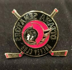NHL Ottawa Senators Hockey Club Sticks Pin Peter David 1993