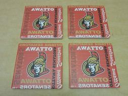 NHL Ottawa Senators Hockey Square Ceramic Coasters 4 Pack NE