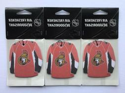 NHL OTTAWA SENATORS LICENSED LOGO JERSEY AIR FRESHENERS  *Vi