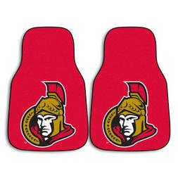 FANMATS NHL Ottawa Senators Nylon Face Carpet Car Mat