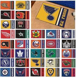 "NHL Teams - 19"" X 30"" Uniform Inspired Starter Area Rug Floo"