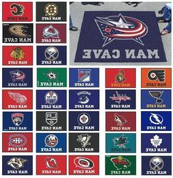 NHL Teams -  5' X 6' Man Cave Tailgater Area Rug Floor Mat
