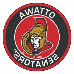 "Ottawa Senators 27"" Roundel Area Rug Floor Mat"
