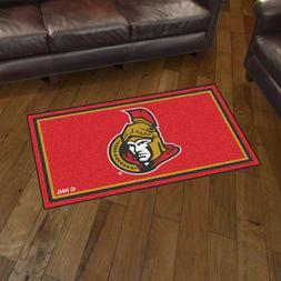 Ottawa Senators 3' X 5' Decorative Ultra Plush Carpet Area R