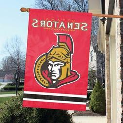 "Ottawa Senators 44"" x 28"" Applique and Embroidered 2-Sided F"