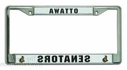 Ottawa Senators Chrome Metal License Plate Tag Frame Cover N