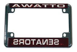 Ottawa Senators Chrome Motorcycle License Plate Frame