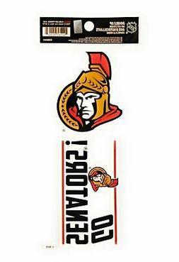 Ottawa Senators Double UP Decal Sheet Slogan Sticker Auto Ho