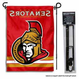 Ottawa Senators Garden Flag and Yard Pole Stand Included