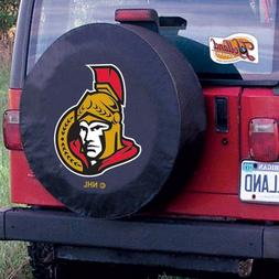 OTTAWA SENATORS HBS Black Vinyl Fitted Spare Car Tire Cover