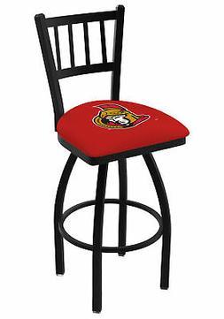 "Ottawa Senators HBS Red ""Jail"" Back High Top Swivel Bar Stoo"