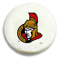 Ottawa Senators HBS White Vinyl Fitted Spare Car Tire Cover